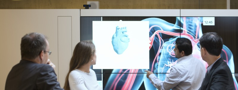 Review 3D heart model on screen